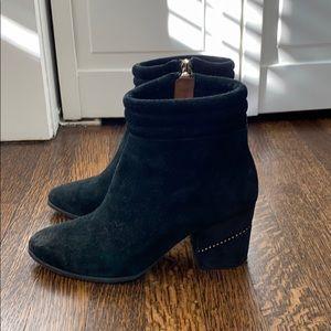 Rebecca Minkoff Black Suede Zip Booties